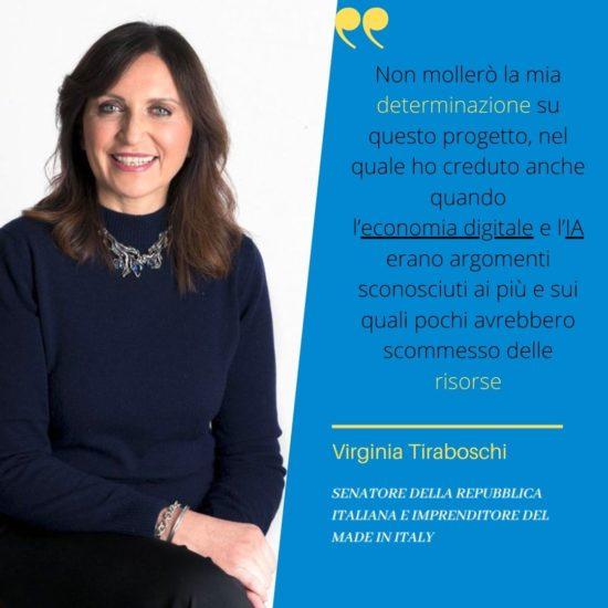 Virginia Tiraboschi con citazione