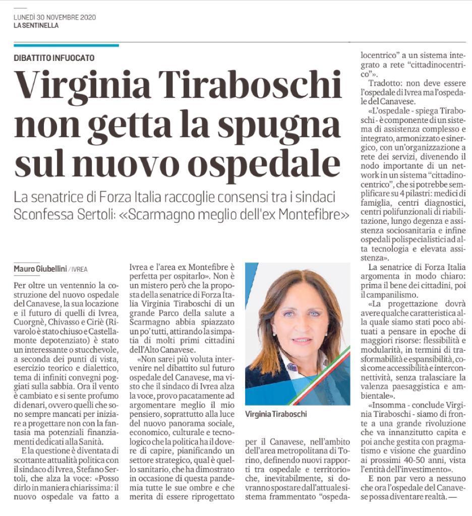 Virginia Tiraboschi non getta la spugna sul nuovo ospedale